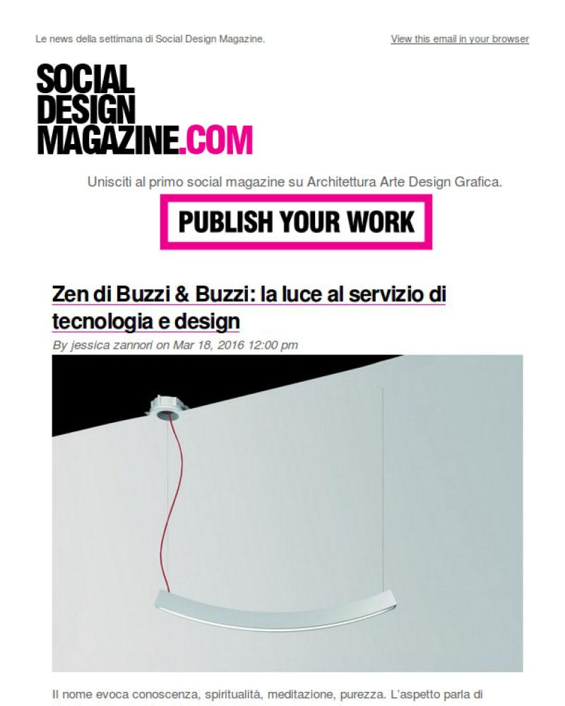 Newsletter Social Design Magazine - 21/3/2016
