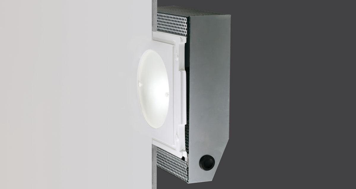 CLASS | Rectangular recessed lighting with rounded Ø 120 mm light emission hole and flush frosted glass
