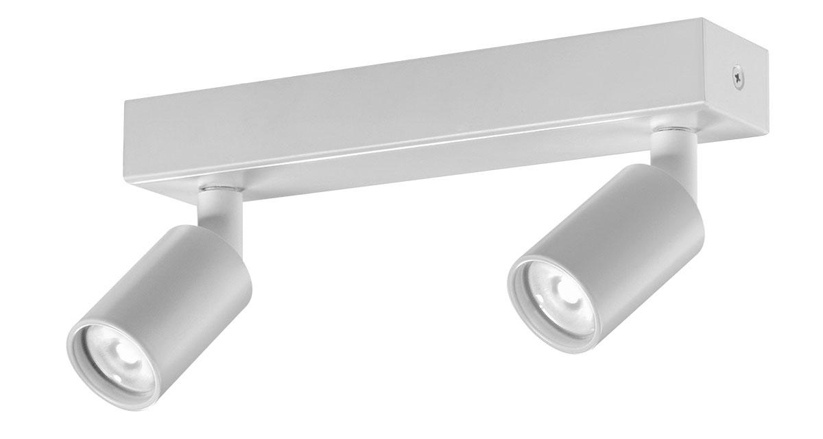 X2 | Ø 40 mm luminaire installable on ceilings with a double projector and black or white finishings