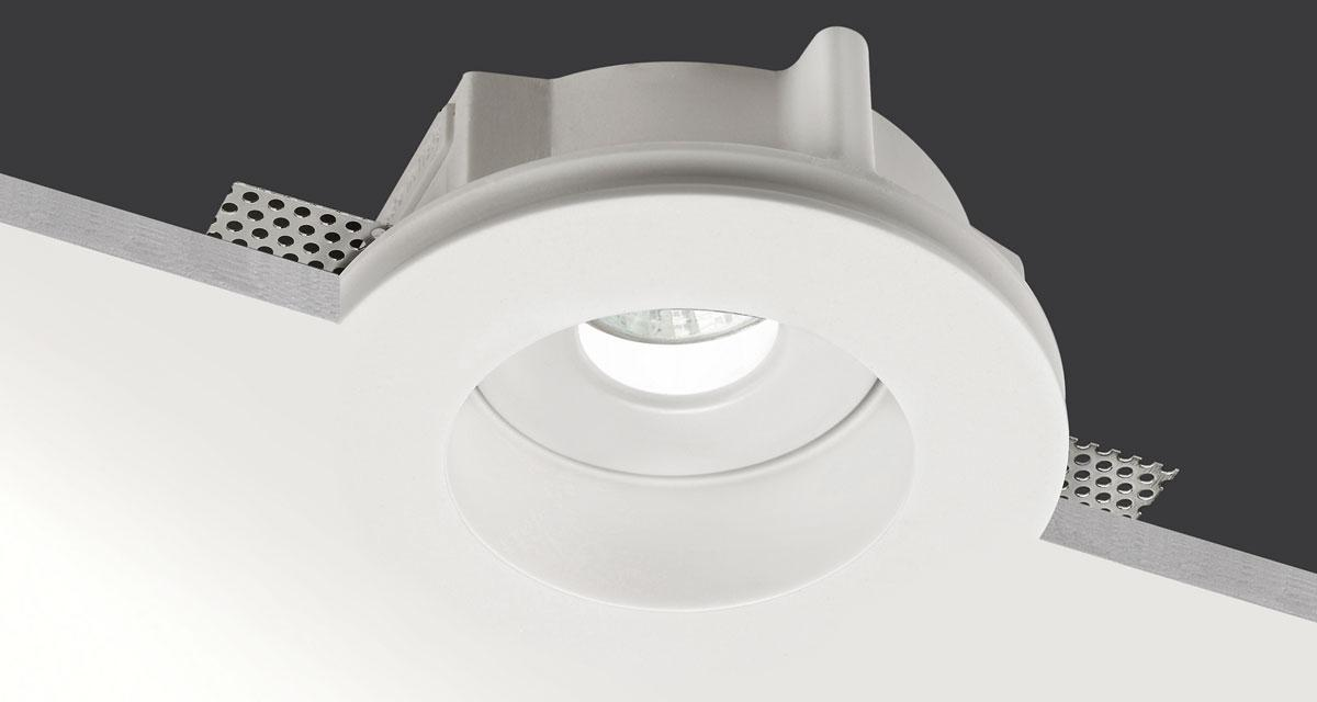 IDROROUND IP65 | Ø 150 mm rounded recessed lighting with 30 mm rearward light source