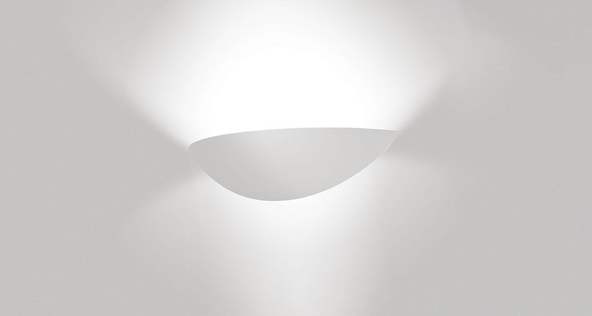 BAUTA ELLISSE | 450 mm bi-emission wall luminaire