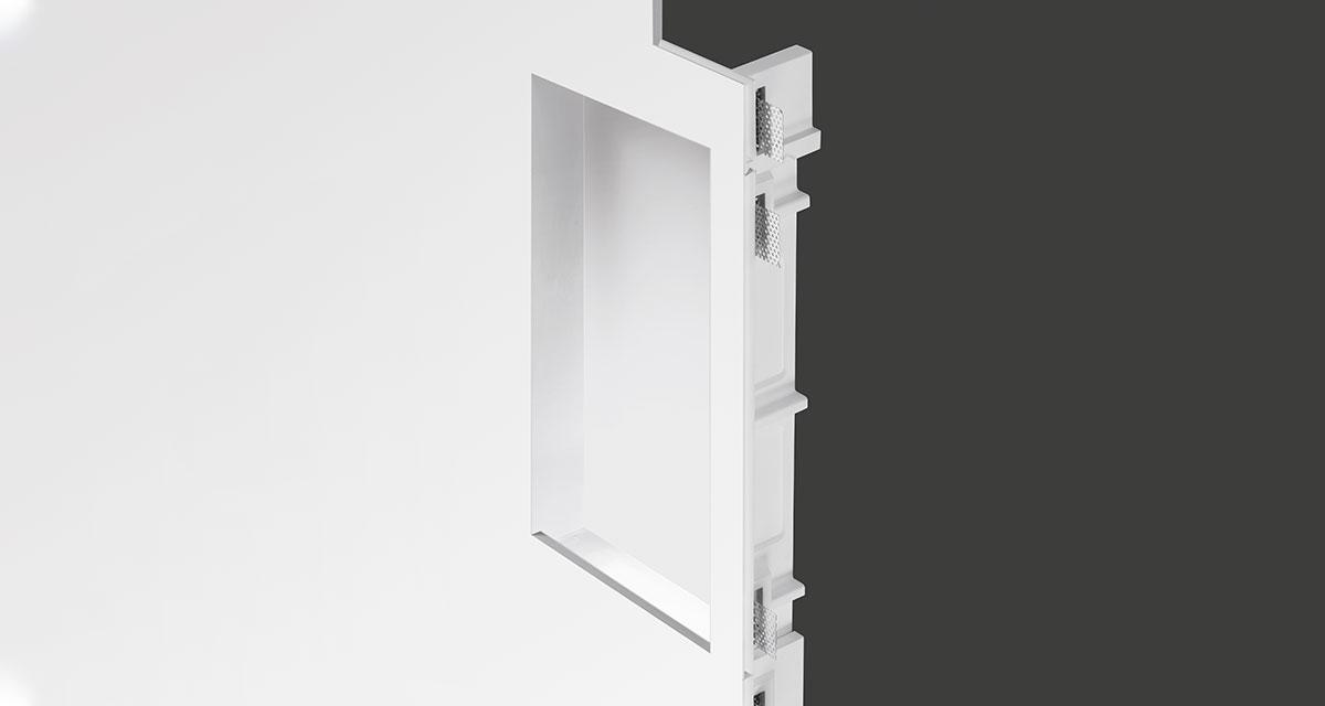 MARKUS | Modular recessed lighting for continuous 240 mm-wide lines of light, with single or double symmetrical rearward light source