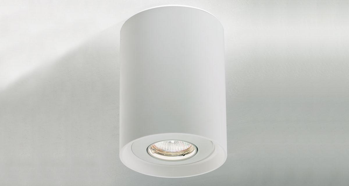 SKY | 170 mm ceiling luminaire, with adjustable light source and bi-emission