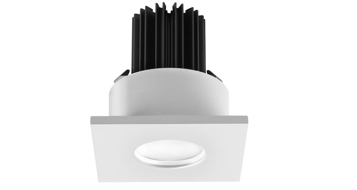 H2STOP | Ø 85 mm squared recessed outdoor luminaire