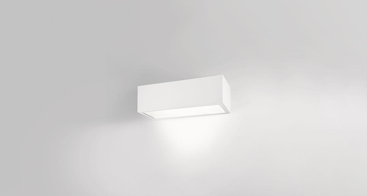 PIPEDINO DIRECT | 250 mm wall luminaire, frosted glass and direct light