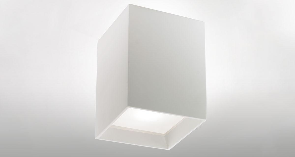 SIDUS | 165 mm ceiling luminaire, 30 mm rearward frosted glass