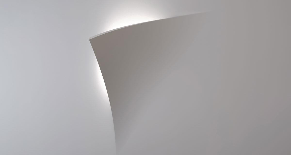 LEAF | 400 mm squared semi-recessed lighting