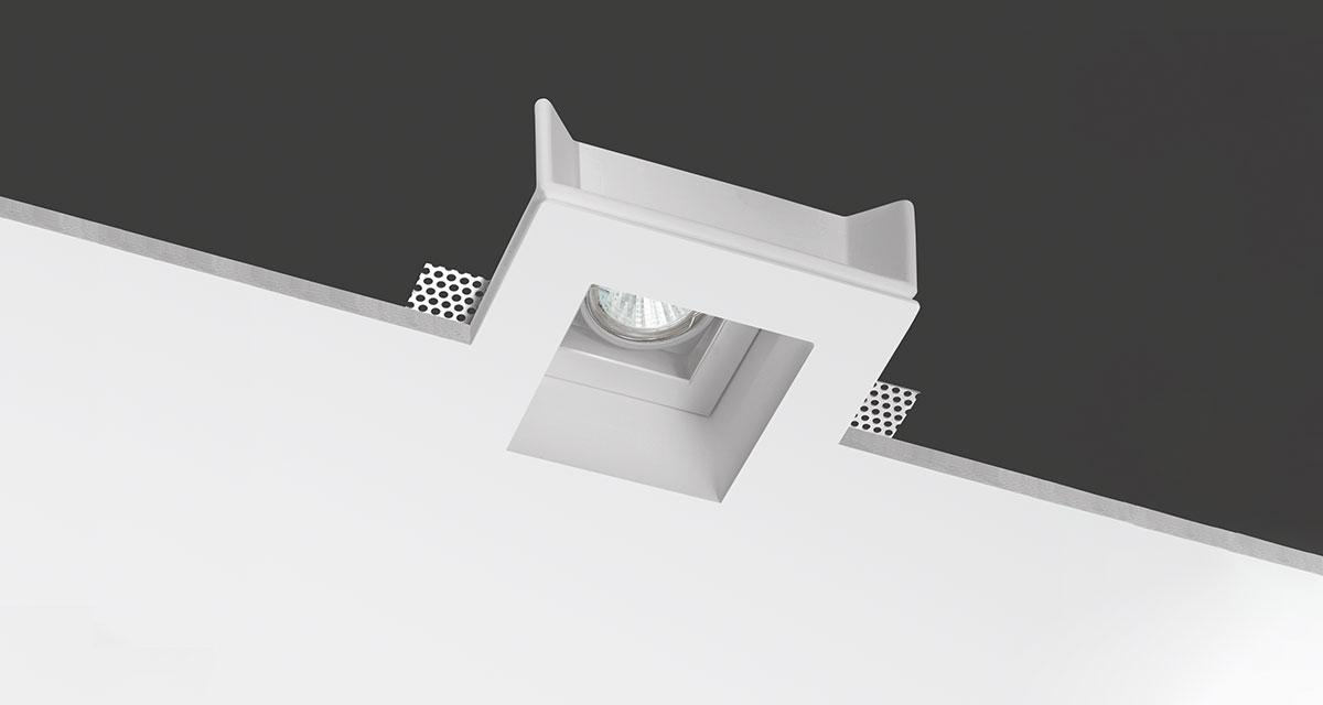 JACOBOX | 150 mm squared recessed light with adjustable rearward light source