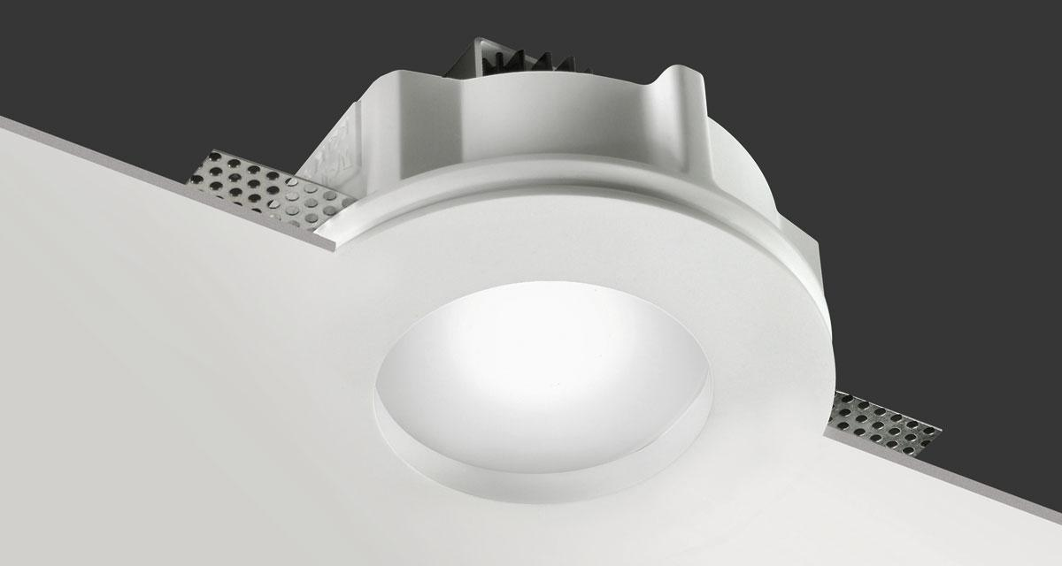 RIM | Ø 140 mm rounded recessed lighting with 10 mm rearward frosted glass