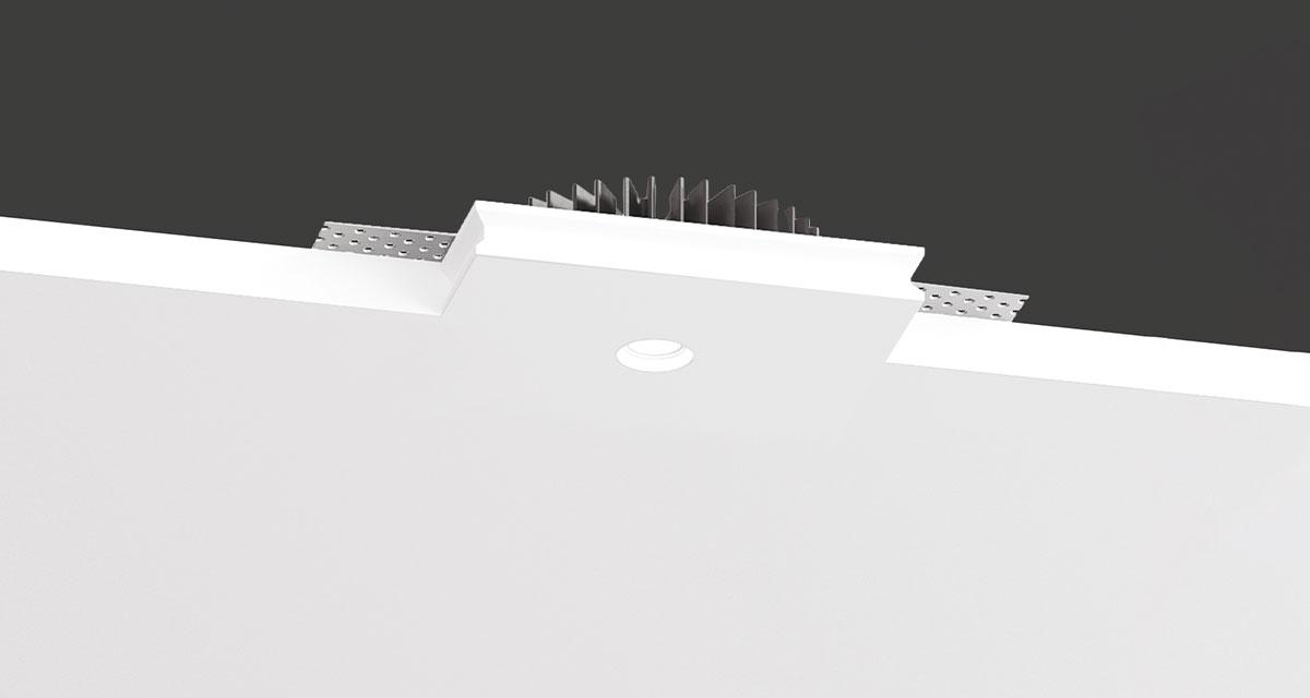 PIXEL | Rectangular recessed lighting in a space of 35 mm with Ø 16 mm light emission hole