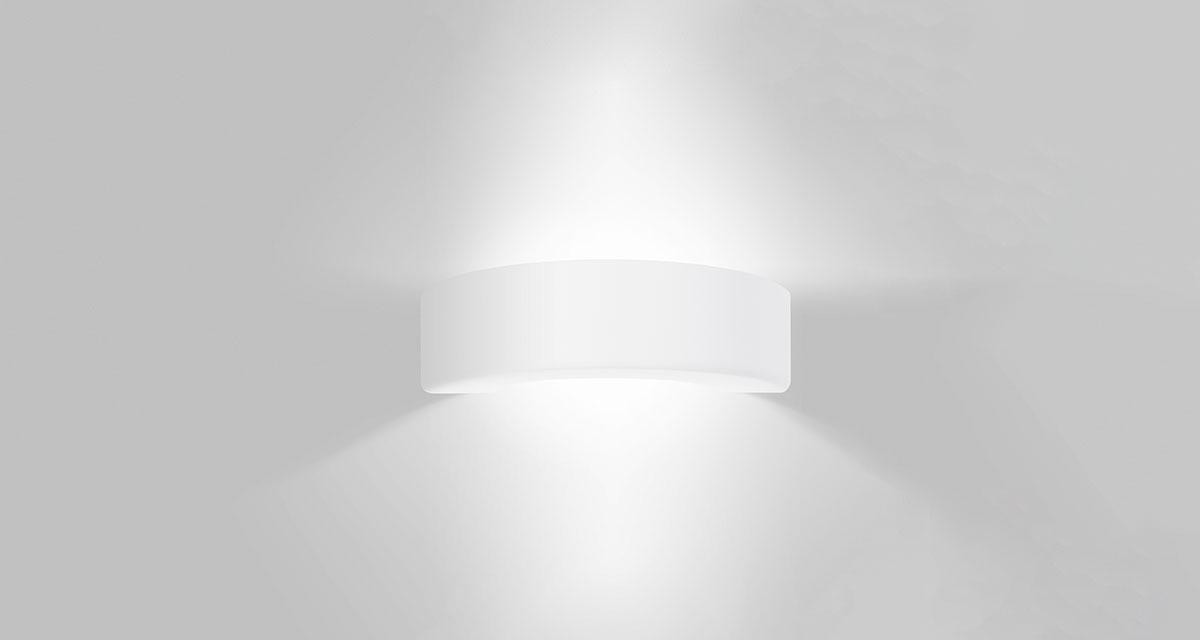 PONTE PICCOLO | 340 mm bi-emission wall luminaire