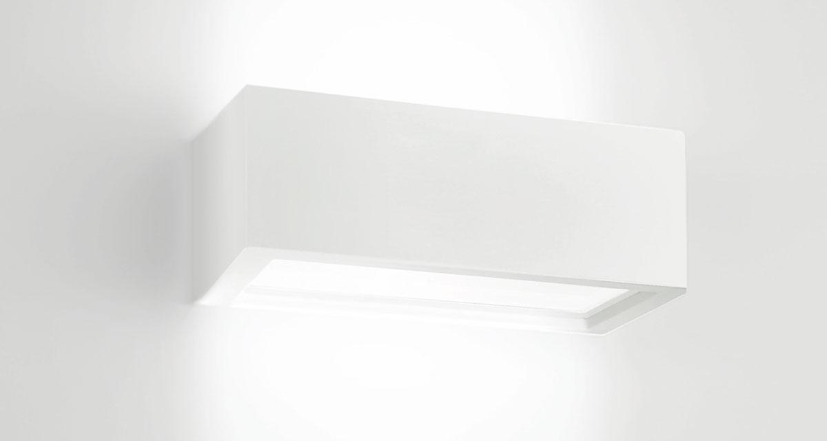 PIPEDINO OPEN | 250 mm bi-emission wall luminaire