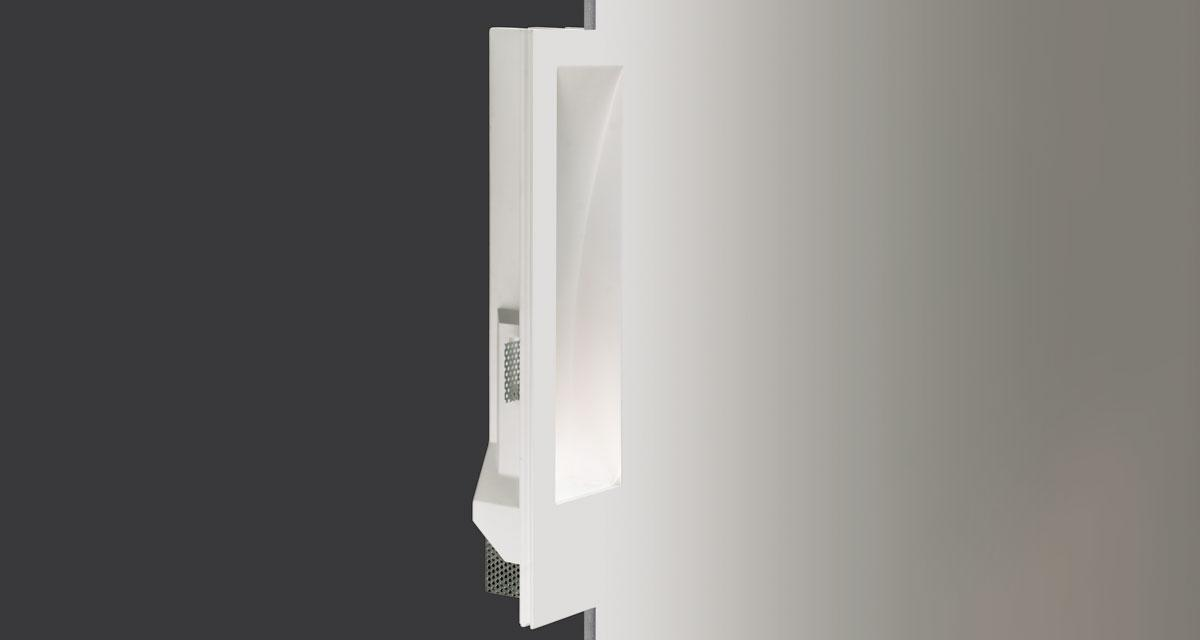 GHOST | 150 x 480 mm rectangular recessed lighting with wall washer parabola