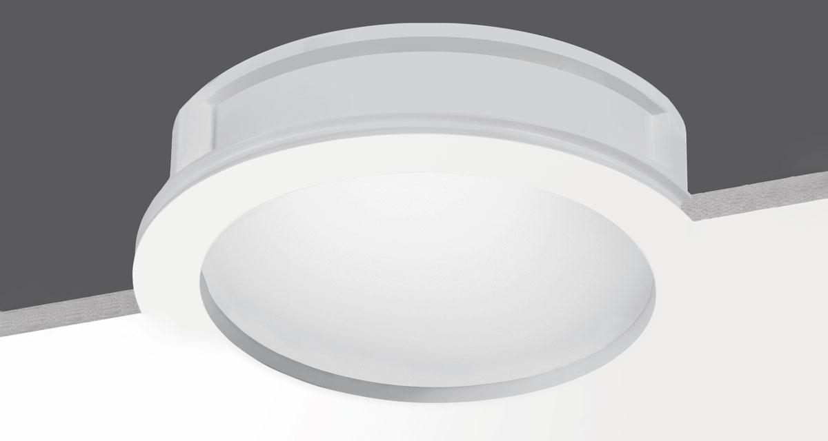MAXI RIM | Ø 260 mm rounded recessed lighting with 10 mm rearward frosted glass
