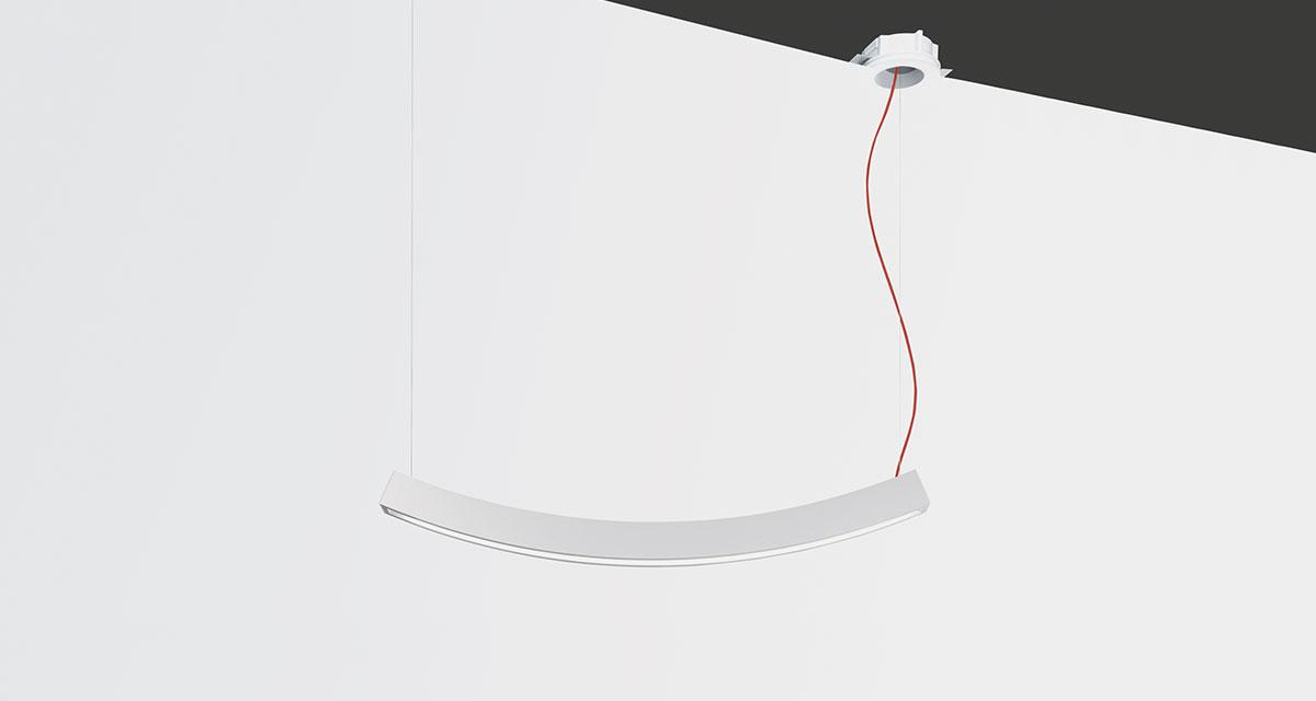 ZEN | 1000 mm suspended luminaire with frosted diffuser, with white or flush ceiling box