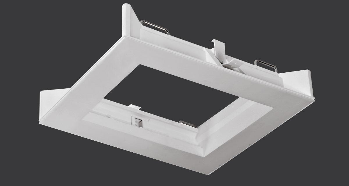 SECRET LINE | Modular recessed lighting system, frame housing 1 to 3 modules and various modules with fixed or adjustable light source