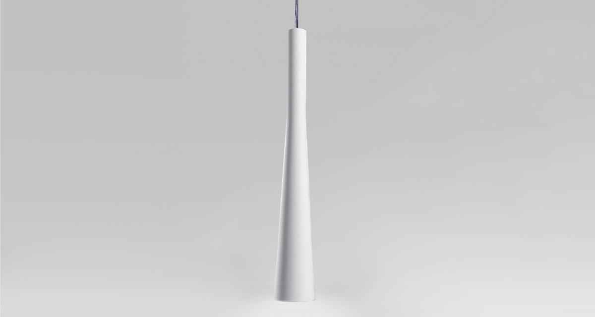 FUNNEL LAMP | 500 mm hanging luminaire, Ø 50 mm light emission hole and adjustable silicone cable