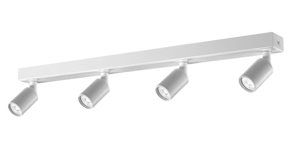 X4 | Ø 40 mm luminaire installable on ceilings with four projectors and black or white finishings