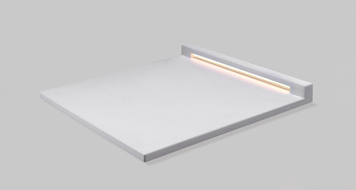 "UNDERLINE | 500 x 500 x h 40 mm (19.68"" x 19.68"" x 1.57"") inground walkable luminaire"
