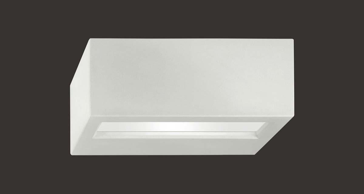 VIRTUS DIRECT IP65 | 345 mm exterior wall unit, direct light and frosted glass diffuser, paintable