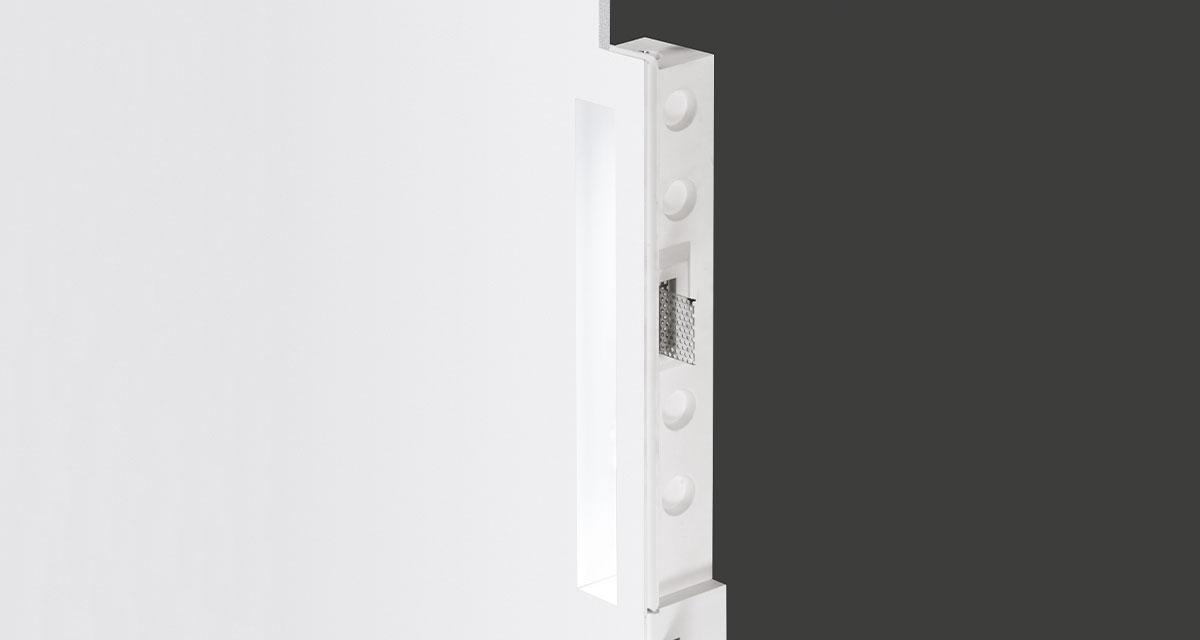 BLADE IP44/IP65 | Modular recessed lighting with rearward light source, 45 mm blade of light