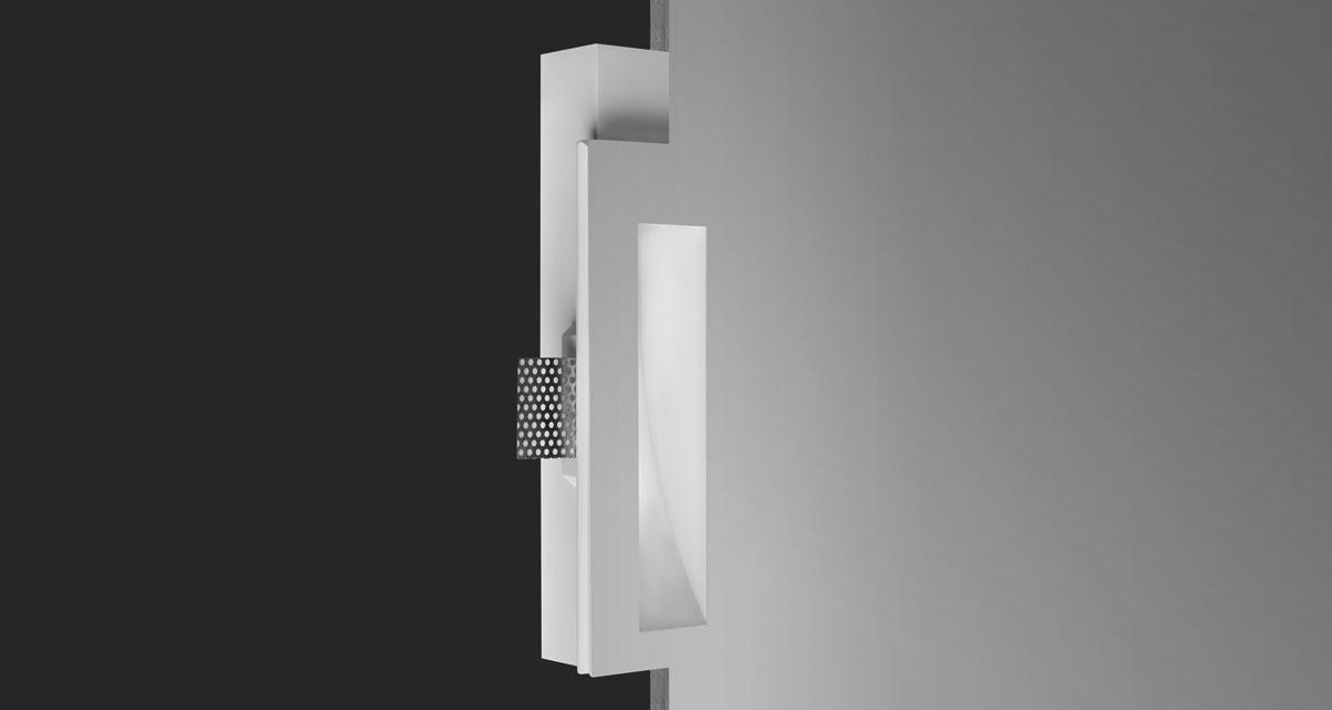 PHANTOM IP44/IP65 | Incasso da 105 x 260 mm con parabola wall washer