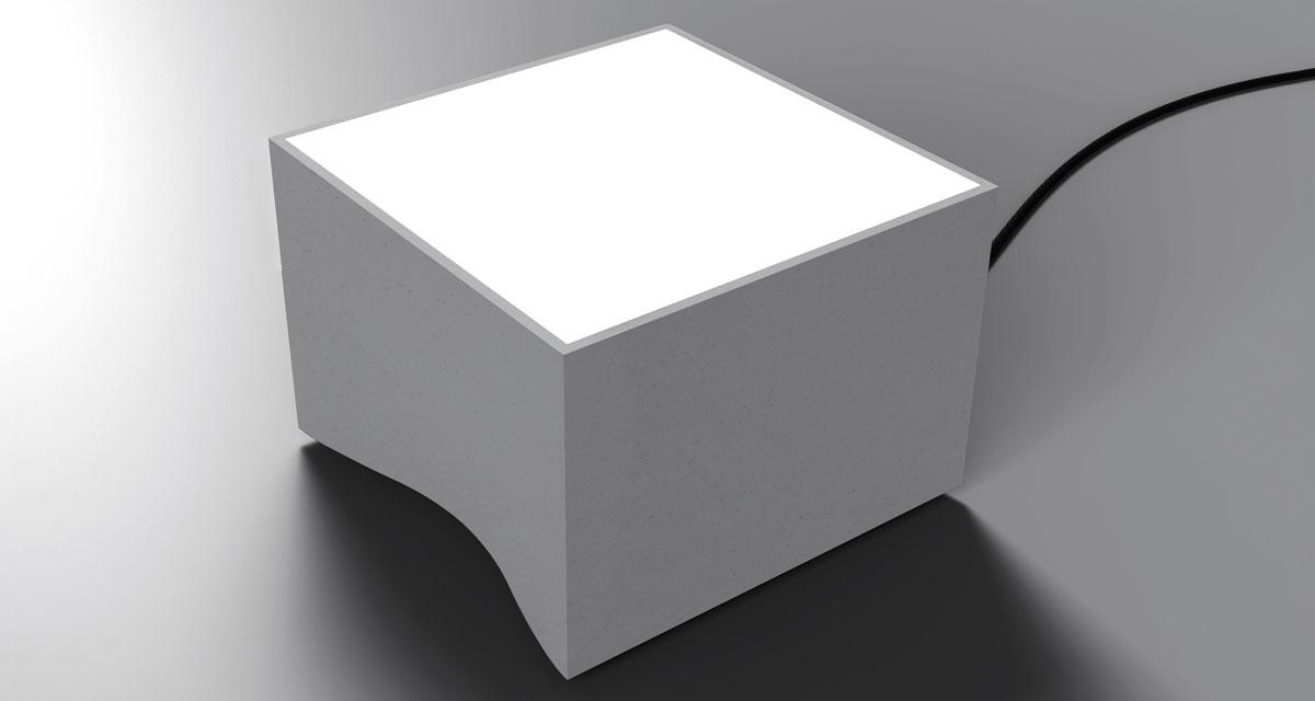 VALO IP65 | 250 mm floor lighting device with frosted glass, paintable