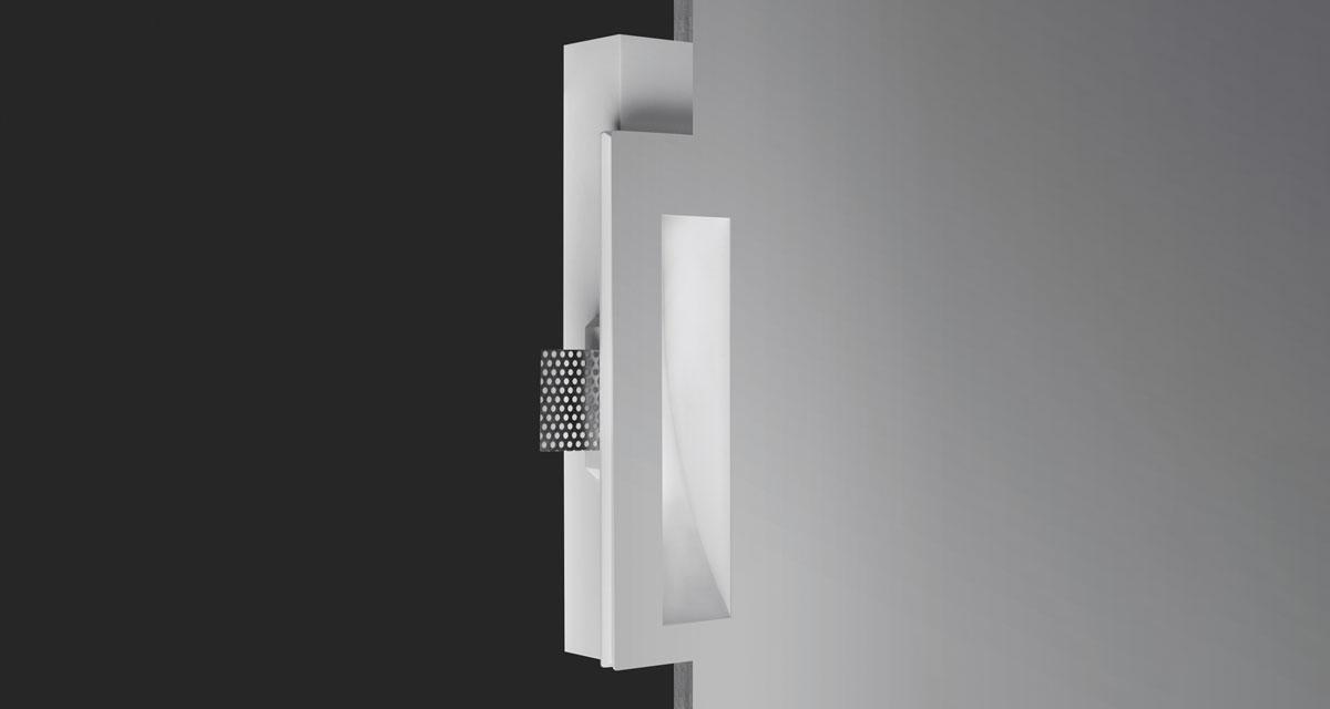 PHANTOM | 105 x 260 mm rectangular recessed lighting with wall washer parabola