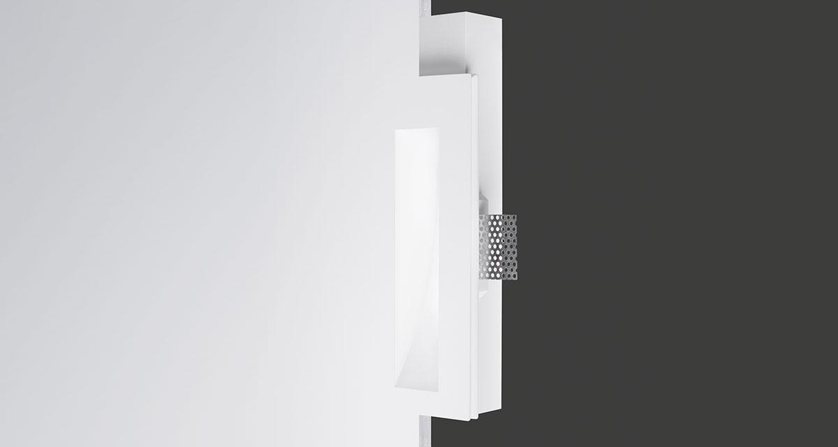 PHANTOM IP44/IP65 | 105 x 260 mm recessed lighting with wall washer parabola
