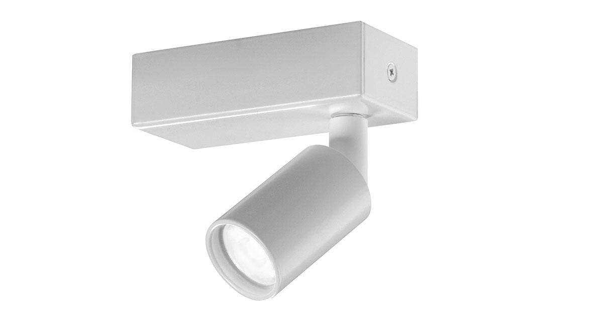 X1 | Ø 40 mm luminaire installable on ceilings with adjustable projector and black or white finishings