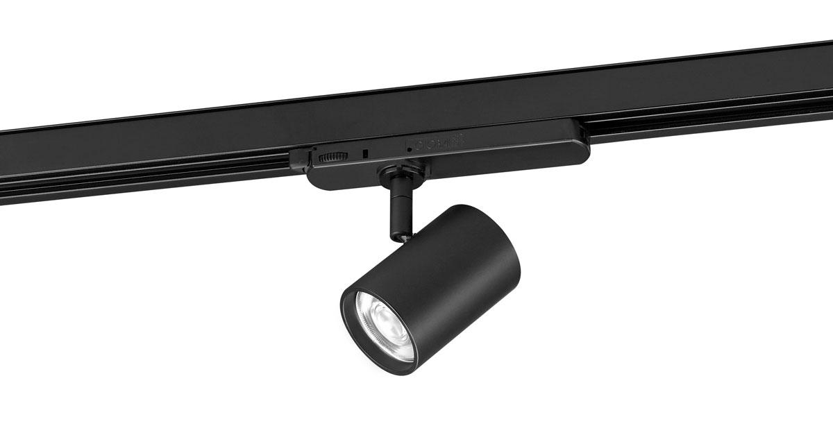Q1 | Ø 60 x 85 mm adjustable luminaire installable on ceilings, walls or rail with black or white finishings