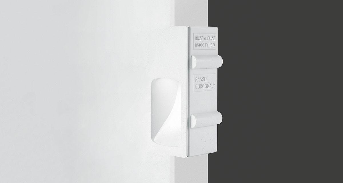 PASSÉ IP65 | 130 x 245 mm rectangular recessed lighting with rounded light emission hole and wall washer parabola, paintable
