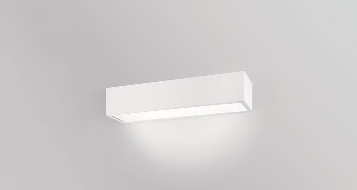 PIPEDO DIRECT | 490 mm wall luminaire, frosted glass and direct light