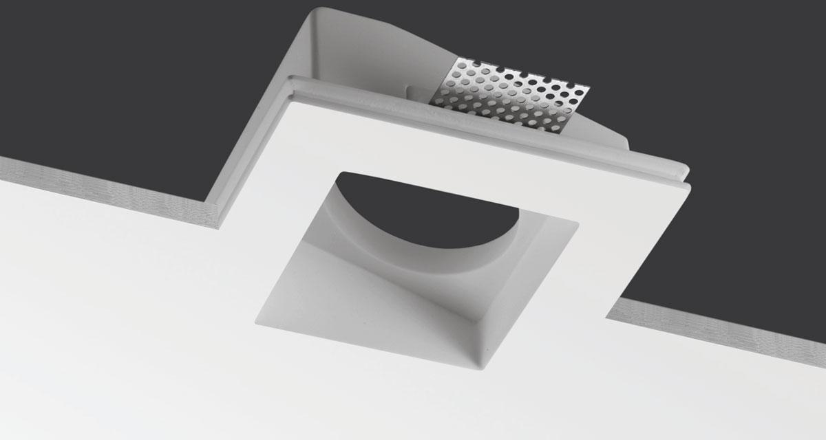 ALKABOX | 150 / 240 mm flush mounting box, supplied without spotlight, with recessed slot available in various inclinations