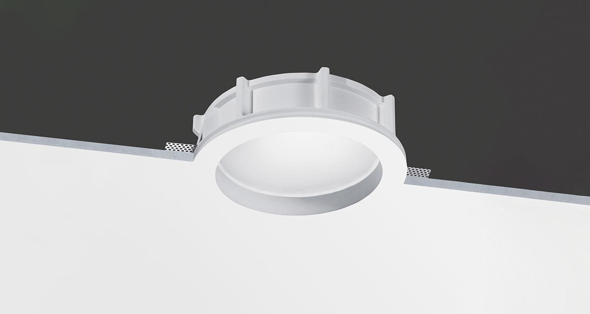 ORIS IP65 | Ø 260 mm rounded recessed lighting with 30 mm rearward frosted glass