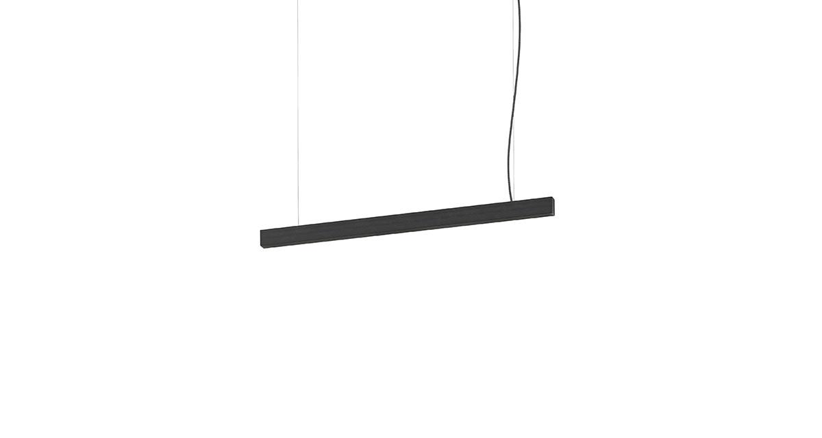 THE DARK   Linea pendant light for interiors with fumèshade