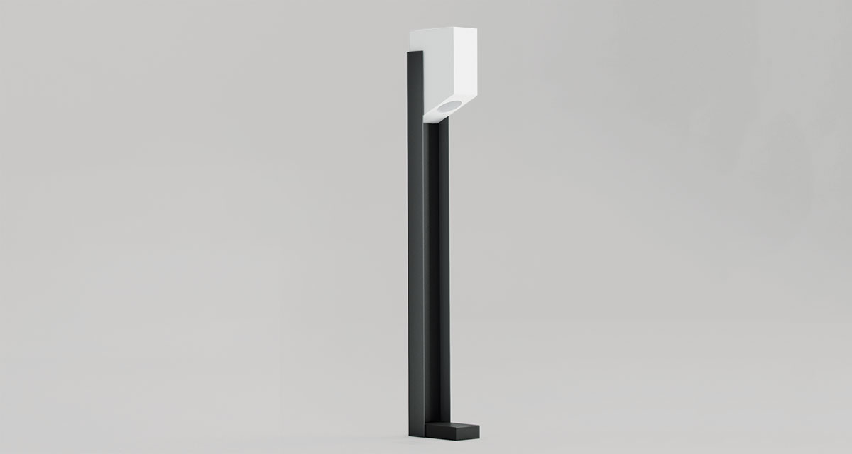 THE BOLLARD | outdoor floor lamp with adjustable height and decorable body