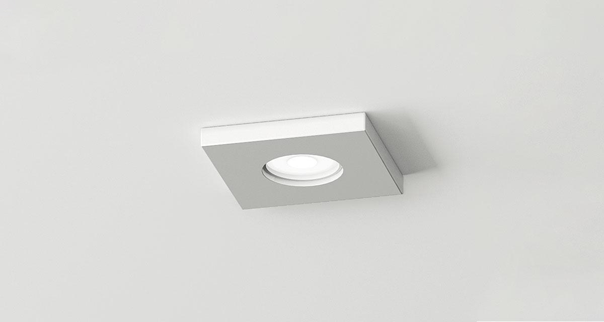 BARD | 100 x 100 mm recessed till end position paintable like the ceiling